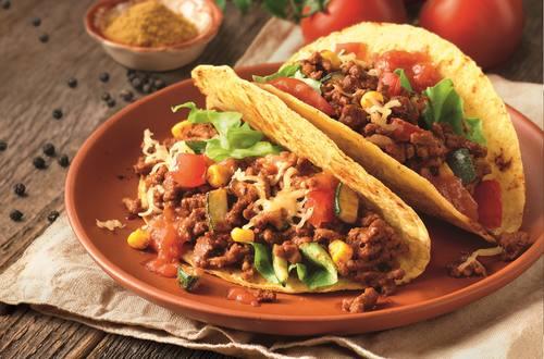 Lekker veel groenten met de Mexicaanse Taco's van Knorr