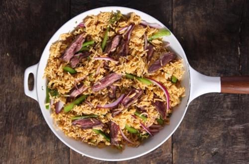 Philly Cheesesteak Rice
