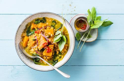 Knorr - Spinat-Süßkartoffel-Linsen Dhal