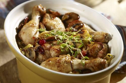 Knorr - Auflauf mit Hendlhaxen, Lauch und Champignons