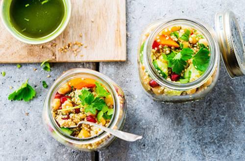 Quinoa et salade aux œufs
