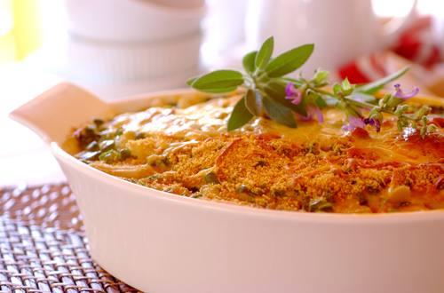 Knorr - Auflauf mit Spargel, Erbsen und Huhn
