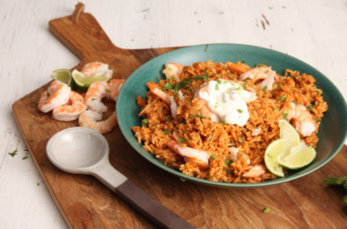Garlic & Lime Shrimp Rice Bowl