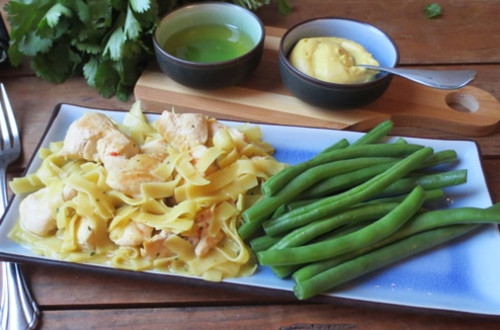 Honey-Dijon Chicken with Noodles
