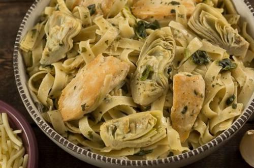 Chicken & Artichoke Spinach Pasta