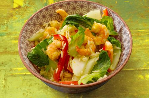 Garnelen in Curry-Sauce