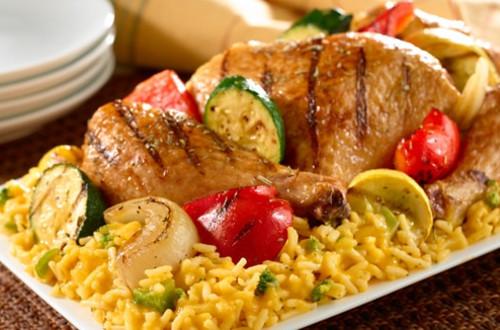 Grilled Chicken & Veggies Over Rice