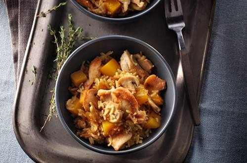 Chicken & Butternut Squash with Rice