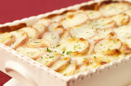 Gratin de pommes de terre au parmesan et ciboulette