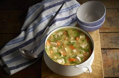Soupe consistante à la dinde