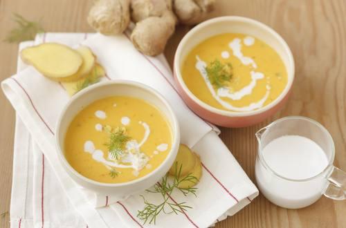 Kürbissuppe mit Ingwer & Kokosmilch