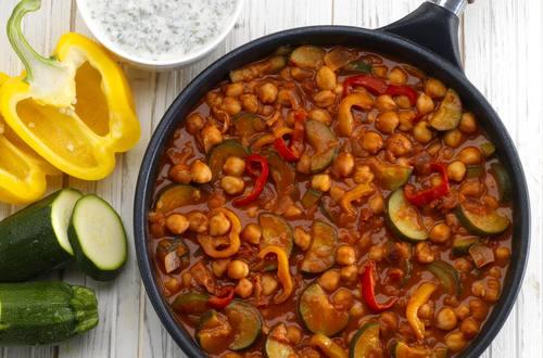 Gemüse-Kichererbsen Pfanne