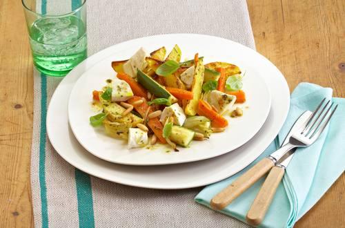 Lauwarmer Salat aus dem Ofen