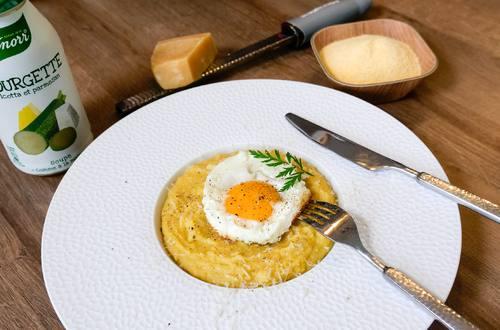 Polenta à l'Italienne Soupe Knorr® « Comme à la maison », Courgette Ricotta et Parmesan by Olivier de Papa en Cuisine