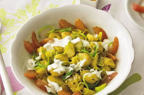 Knorr - Curry-Kartoffel-Salat mit Lauch