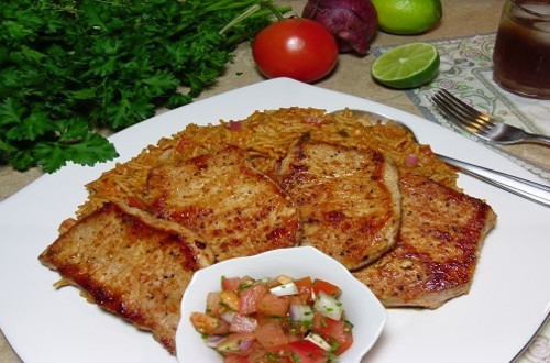 Spanish Pork Tenderloin with Salsa