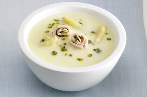 Knorr - Spargelcremesuppe mit Putenröllchen