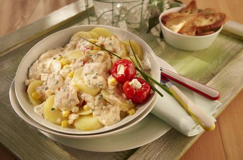 Würzig pikanter Kartoffelsalat