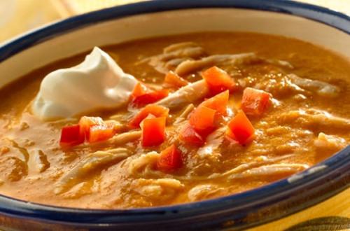 Roasted Poblano & Corn Soup