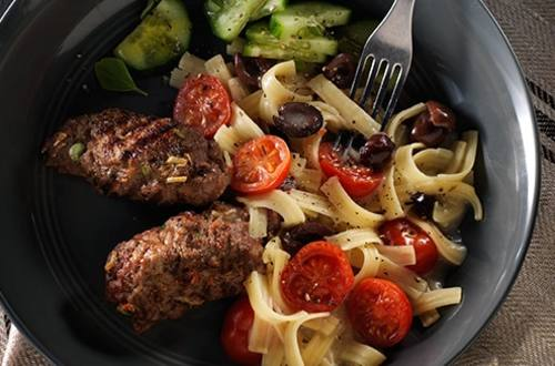 Mediterranean Beef Grill with Pasta