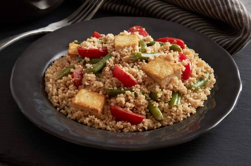 Scampi-Style Tofu and Whole Wheat Couscous