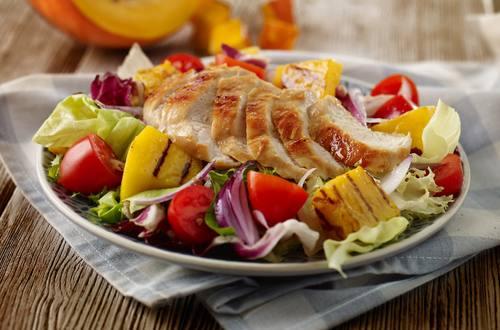 Hähnchen-Kürbis-Salat