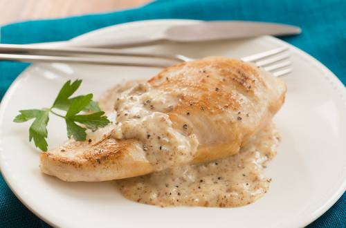 Creamy Honey Mustard Skillet Chicken Recipe