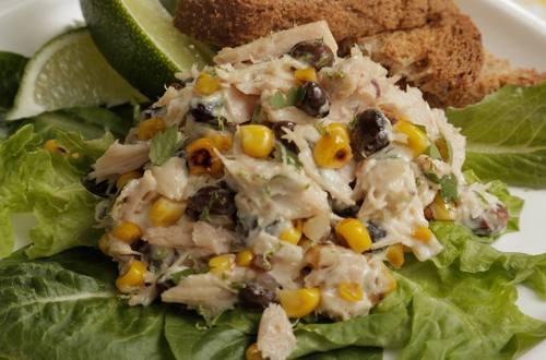 Tuna Salad with Charred Corn and Black Beans