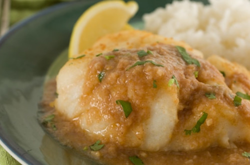 Cod with Paprika Sauce
