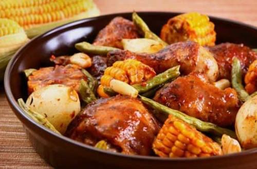 Cazuela de Pollo y Vegetales