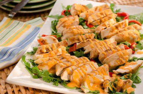 Grilled Chicken with Spicy Pepper Sauce