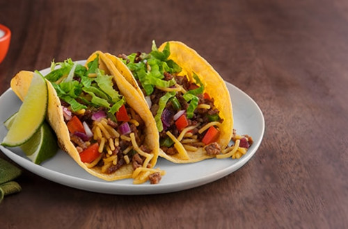 Mexican Rice & Beef Tacos