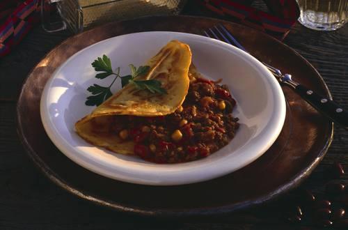 Knorr - Gefüllte Palatschinken mit Chili con carne