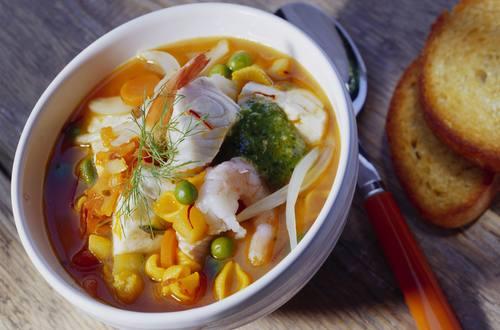 Knorr - Mediterraner Fischtopf mit Fenchel und Pesto verde