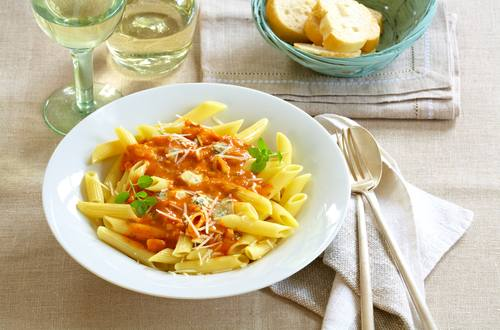 Knorr - Penne mit Tomaten-Gorgonzola-Sauce