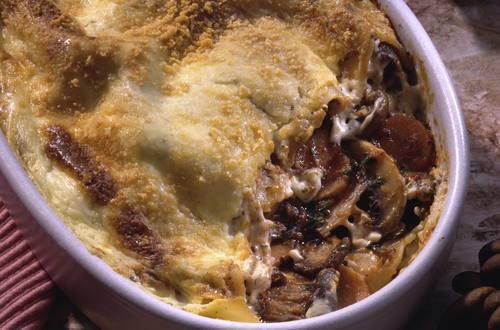 Knorr - Schwammerl-Lasagne mit Karotten