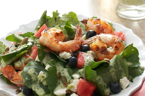 Summer Salad with Creamy Basil Vinaigrette