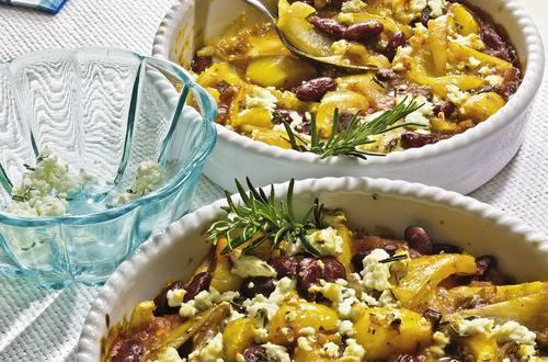 Knorr - Bohnenauflauf mit Paprika und Rosmarin-Feta