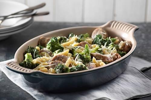 Sausage & Broccoli Carbonara Skillet