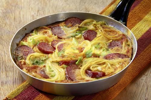 Knorr - Nudel-Wurst-Omelett