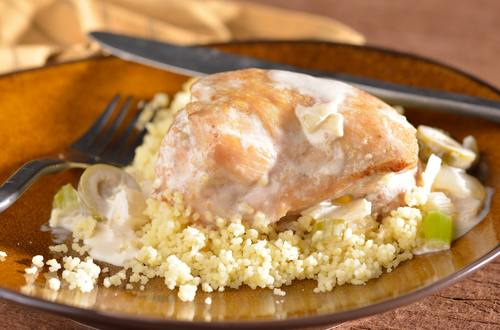 Creamy Mediterranean Chicken over Couscous
