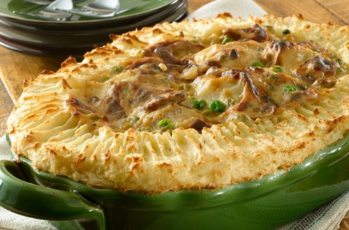 English-Style Cod & Potato Pie