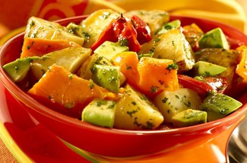 Warm Roasted Potato & Avocado Salad