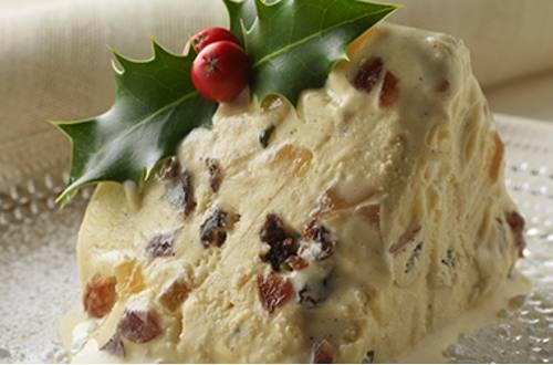 Ice Cream Christmas Pudding Image