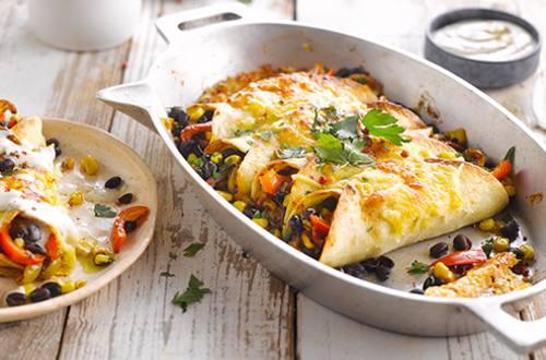 Vegetarische Mexicaanse Burrito's