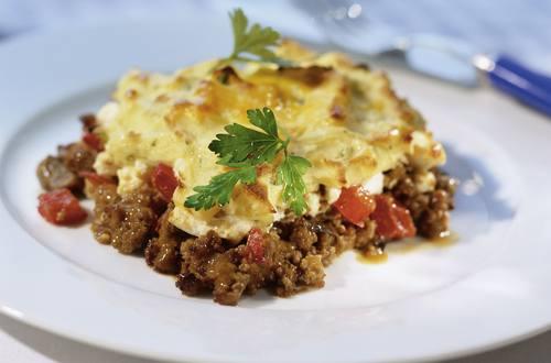 Knorr - Faschiertes-Püree-Auflauf mit Feta und Tomate