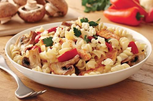 Pasta with Mushrooms & Roasted Capsicum Recipe.