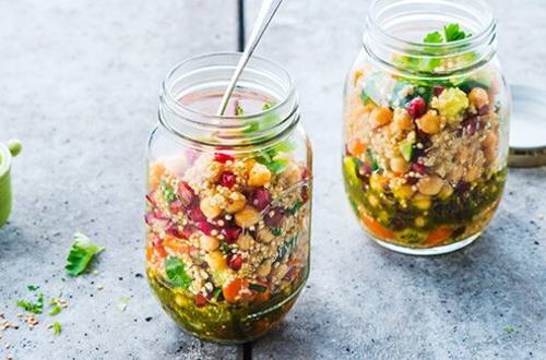 Pomegranate & Chickpea Quinoa Salad