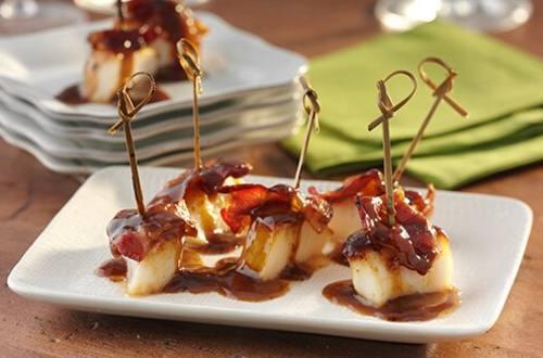 Maple Bacon Scallop Bites