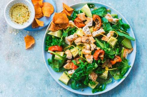 Spinach and Kale Salad